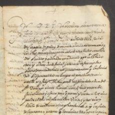Manuscritos antiguos: 1608 - ZARAGOZA - PODER OTORGADO A FRAY TOMAS GÓMEZ COMO PROCURADOR - . Lote 131358762