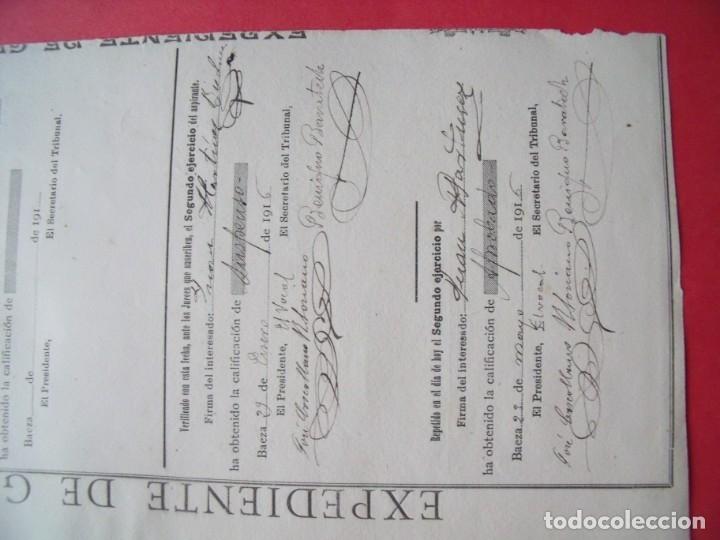 Manuscritos antiguos: ANTONIO MACHADO.-FIRMA MANUSCRITA.-CALIFICACION DE NOTAS.-JUAN MARTINEZ BIEDMA.-UBEDA.-AÑO 1916. - Foto 3 - 131640470
