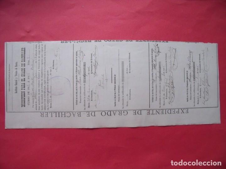 Manuscritos antiguos: ANTONIO MACHADO.-FIRMA MANUSCRITA.-CALIFICACION DE NOTAS.-JUAN MARTINEZ BIEDMA.-UBEDA.-AÑO 1916. - Foto 4 - 131640470