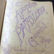 Manuscritos antiguos: LIBROS DE APUNTES MANUSCRITOS CURSO 1902 1903 MEDICINA PATOLOGÍA GENERAL ENRIQUE SLOCKER MIMEOGRAFO. Lote 132139134