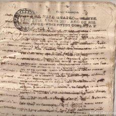 Manuscritos antiguos: DOCUMENTO MANUSCRITO AÑO 1787 - TIPO PERGAMINO.CONTIENE 14 HOJAS MANUSCRITAS. Lote 132269270