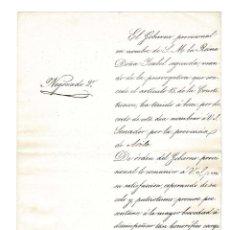 Manuscritos antiguos: MADRID 1843 OFICIO NOMBRAMIENTO DE SENADOR POR ÁVILA DE LEANDRO LADRÓN DE GUEVARA.. Lote 132511798