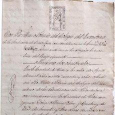 Manuscrits anciens: VICH (BARCELONA) 1868 - CARTA DE PAGO -SELLO FISCAL 4ª CLASE DE 8 ESCUDOS Y 9ª CLASE 20 CENT.. Lote 132753342