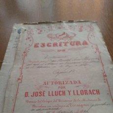 Manuscritos antiguos: TARRAGONA -SEPT. 1890 - MANUSCRITO NOTARIAL - VER FOTOS. Lote 132884146