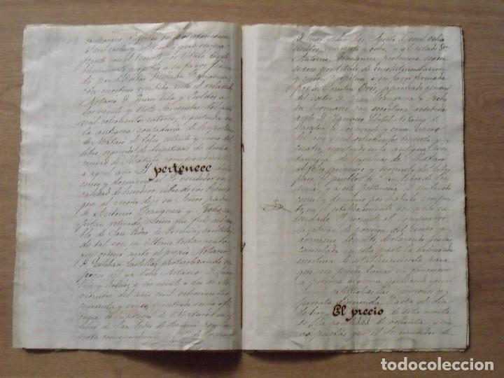 Manuscritos antiguos: MANUSCRITO VENTA PERPETUA Y ABSOLUCIÓN CENSO. MATARÓ. 1874. JUAN BAUTISTA CASTELLAR Y OLIVERAS. - Foto 4 - 131826182