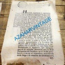 Manuscritos antiguos: SEVILLA, 1767.REAL ORDEN SOBRE CONDENAS POR DENUNCIAS DE GANADO EN DEHESAS DE YEGUAS Y POTROS. Lote 133032450
