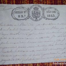 Manuscritos antiguos: FRACCION DE UN TITULO CON SELLOS DE 1843, . Lote 133079482
