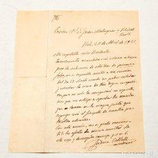 Manuscritos antiguos: JAUME COLLELL : CARTA MANUSCRITA Y FIRMADA DE UNA HOJA - 1931. Lote 133155638