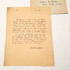 Manuscritos antiguos: MANUEL BLANCAFORT : CARTA MANUSCRITA Y FIRMADA CON EL SOBRE ORIGINAL - 1947. Lote 133155758