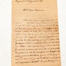 Manuscritos antiguos: NARCÍS OLLER : CARTA MANUSCRITA I SIGNADA DE 4 FULLS - 1899. Lote 133155982