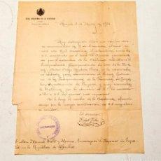 Manuscritos antiguos: FIDEL FITA : CARTA MANUSCRITA Y FIRMADA DE UNA PAGINA - 1914. Lote 133156214