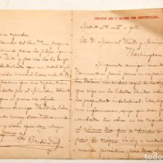 Manuscritos antiguos: TOMÁS BRETÓN - CUATRO PAGINAS FIRMADAS Y MANUSCRITAS - 1913. Lote 133157574