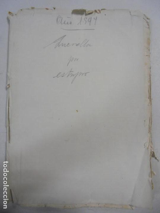 QUERELLA POR ESTUPRO DE BEATUS DE JIBEZA CONTRA FRANCISCO DESPINOSSA. CÁDIZ 1594. VER FOTOS (Coleccionismo - Documentos - Manuscritos)