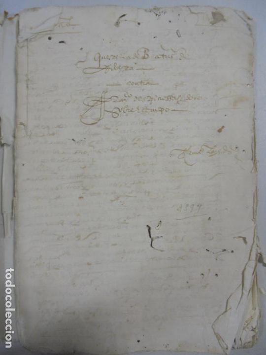 Manuscritos antiguos: QUERELLA POR ESTUPRO DE BEATUS DE JIBEZA CONTRA FRANCISCO DESPINOSSA. CÁDIZ 1594. VER FOTOS - Foto 2 - 133185418