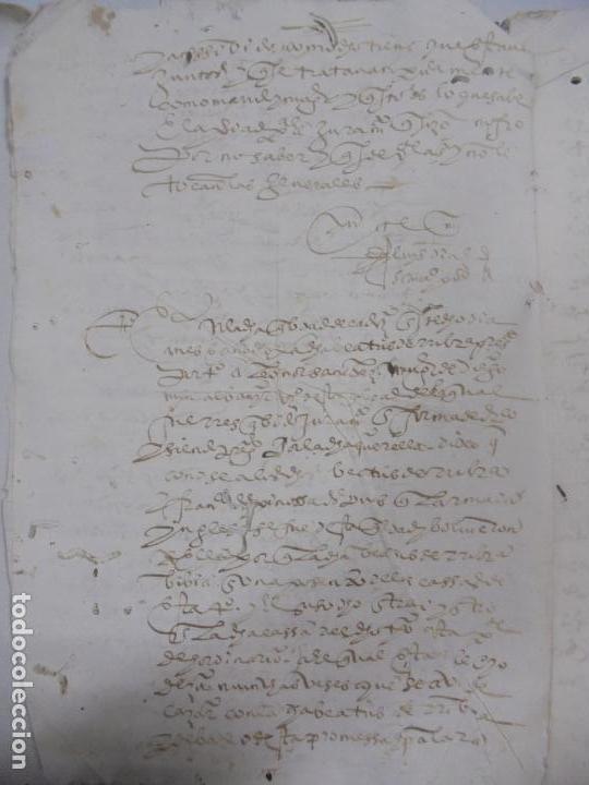 Manuscritos antiguos: QUERELLA POR ESTUPRO DE BEATUS DE JIBEZA CONTRA FRANCISCO DESPINOSSA. CÁDIZ 1594. VER FOTOS - Foto 3 - 133185418