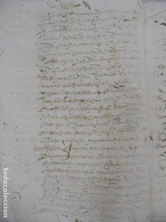 Manuscritos antiguos: QUERELLA POR ESTUPRO DE BEATUS DE JIBEZA CONTRA FRANCISCO DESPINOSSA. CÁDIZ 1594. VER FOTOS - Foto 4 - 133185418