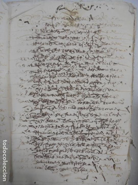 Manuscritos antiguos: QUERELLA POR ESTUPRO DE BEATUS DE JIBEZA CONTRA FRANCISCO DESPINOSSA. CÁDIZ 1594. VER FOTOS - Foto 5 - 133185418
