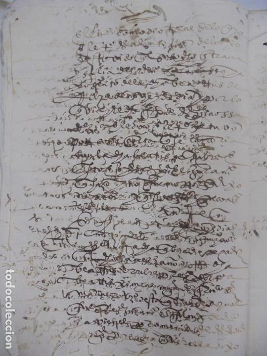 Manuscritos antiguos: QUERELLA POR ESTUPRO DE BEATUS DE JIBEZA CONTRA FRANCISCO DESPINOSSA. CÁDIZ 1594. VER FOTOS - Foto 6 - 133185418