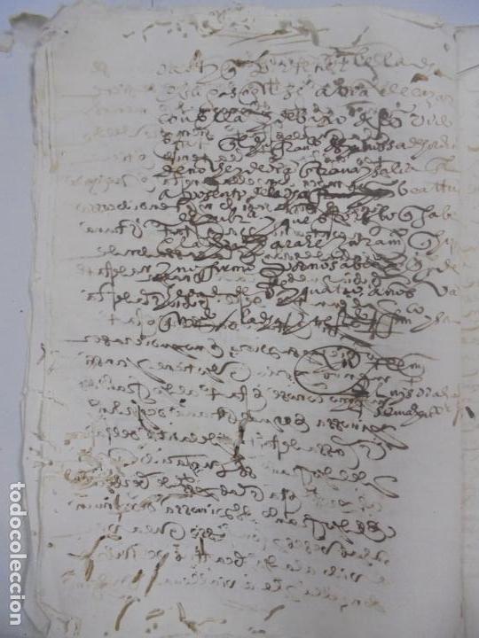 Manuscritos antiguos: QUERELLA POR ESTUPRO DE BEATUS DE JIBEZA CONTRA FRANCISCO DESPINOSSA. CÁDIZ 1594. VER FOTOS - Foto 7 - 133185418
