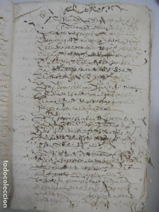 Manuscritos antiguos: QUERELLA POR ESTUPRO DE BEATUS DE JIBEZA CONTRA FRANCISCO DESPINOSSA. CÁDIZ 1594. VER FOTOS - Foto 8 - 133185418