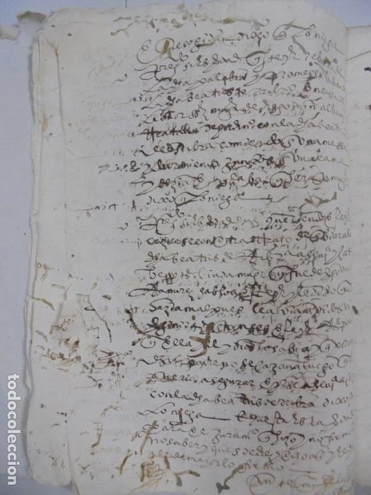 Manuscritos antiguos: QUERELLA POR ESTUPRO DE BEATUS DE JIBEZA CONTRA FRANCISCO DESPINOSSA. CÁDIZ 1594. VER FOTOS - Foto 9 - 133185418