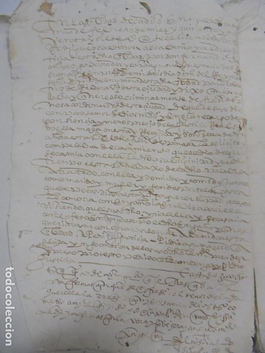 Manuscritos antiguos: QUERELLA POR ESTUPRO DE BEATUS DE JIBEZA CONTRA FRANCISCO DESPINOSSA. CÁDIZ 1594. VER FOTOS - Foto 10 - 133185418