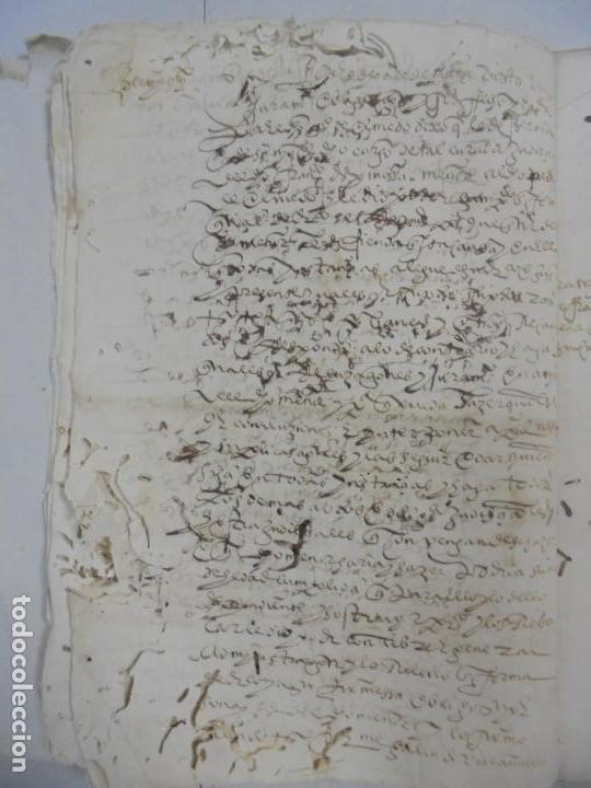 Manuscritos antiguos: QUERELLA POR ESTUPRO DE BEATUS DE JIBEZA CONTRA FRANCISCO DESPINOSSA. CÁDIZ 1594. VER FOTOS - Foto 11 - 133185418