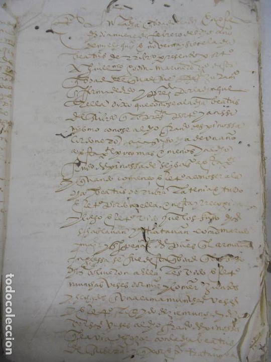 Manuscritos antiguos: QUERELLA POR ESTUPRO DE BEATUS DE JIBEZA CONTRA FRANCISCO DESPINOSSA. CÁDIZ 1594. VER FOTOS - Foto 12 - 133185418
