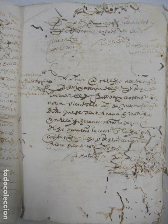 Manuscritos antiguos: QUERELLA POR ESTUPRO DE BEATUS DE JIBEZA CONTRA FRANCISCO DESPINOSSA. CÁDIZ 1594. VER FOTOS - Foto 13 - 133185418