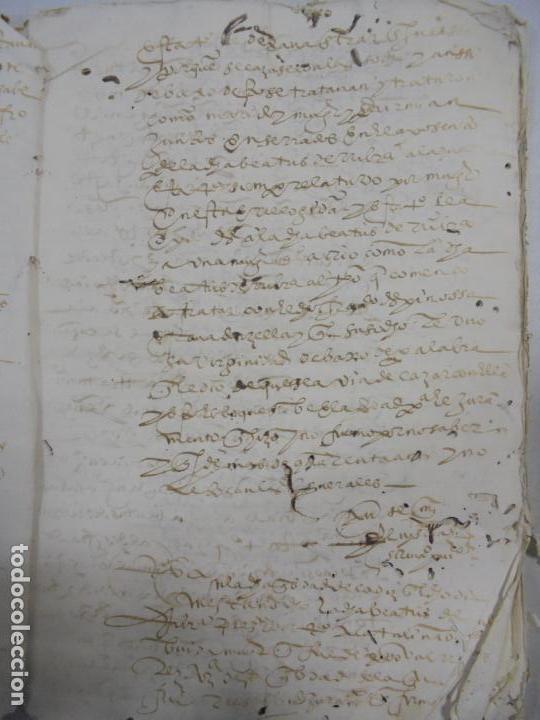 Manuscritos antiguos: QUERELLA POR ESTUPRO DE BEATUS DE JIBEZA CONTRA FRANCISCO DESPINOSSA. CÁDIZ 1594. VER FOTOS - Foto 14 - 133185418