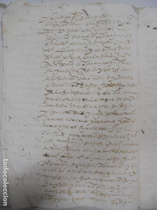 Manuscritos antiguos: QUERELLA POR ESTUPRO DE BEATUS DE JIBEZA CONTRA FRANCISCO DESPINOSSA. CÁDIZ 1594. VER FOTOS - Foto 15 - 133185418