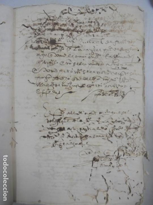Manuscritos antiguos: QUERELLA POR ESTUPRO DE BEATUS DE JIBEZA CONTRA FRANCISCO DESPINOSSA. CÁDIZ 1594. VER FOTOS - Foto 16 - 133185418