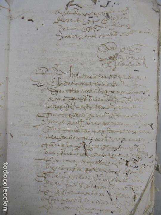 Manuscritos antiguos: QUERELLA POR ESTUPRO DE BEATUS DE JIBEZA CONTRA FRANCISCO DESPINOSSA. CÁDIZ 1594. VER FOTOS - Foto 17 - 133185418