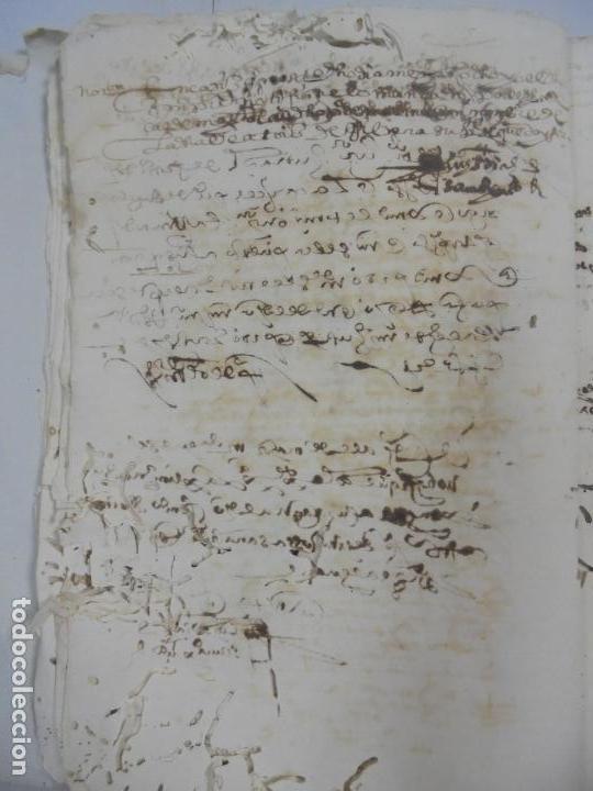 Manuscritos antiguos: QUERELLA POR ESTUPRO DE BEATUS DE JIBEZA CONTRA FRANCISCO DESPINOSSA. CÁDIZ 1594. VER FOTOS - Foto 18 - 133185418