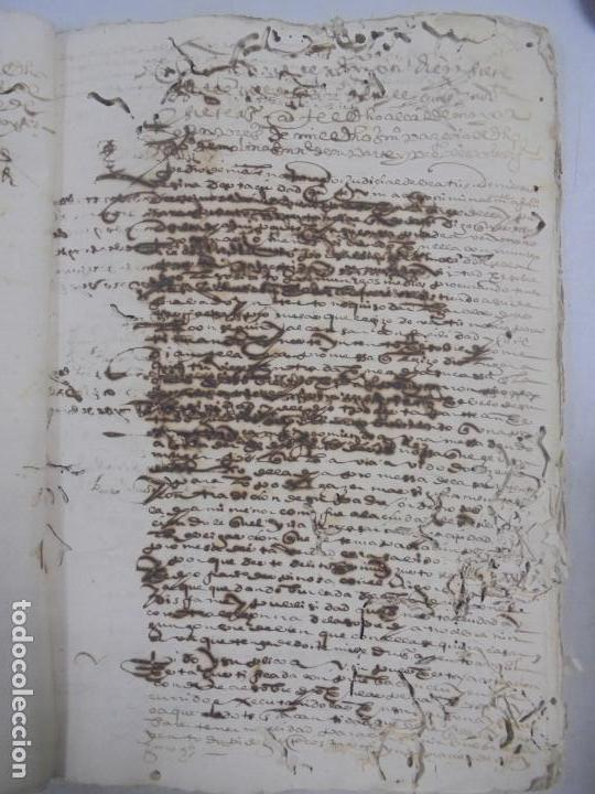 Manuscritos antiguos: QUERELLA POR ESTUPRO DE BEATUS DE JIBEZA CONTRA FRANCISCO DESPINOSSA. CÁDIZ 1594. VER FOTOS - Foto 19 - 133185418