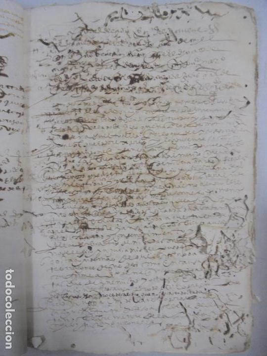 Manuscritos antiguos: QUERELLA POR ESTUPRO DE BEATUS DE JIBEZA CONTRA FRANCISCO DESPINOSSA. CÁDIZ 1594. VER FOTOS - Foto 20 - 133185418