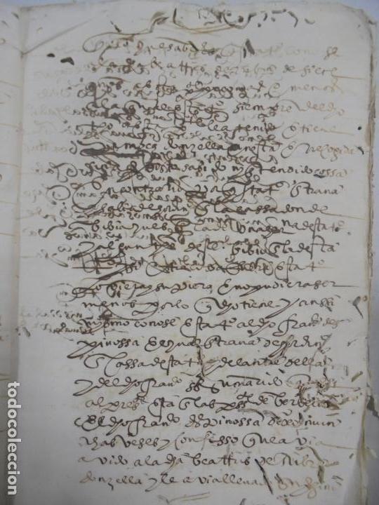Manuscritos antiguos: QUERELLA POR ESTUPRO DE BEATUS DE JIBEZA CONTRA FRANCISCO DESPINOSSA. CÁDIZ 1594. VER FOTOS - Foto 21 - 133185418