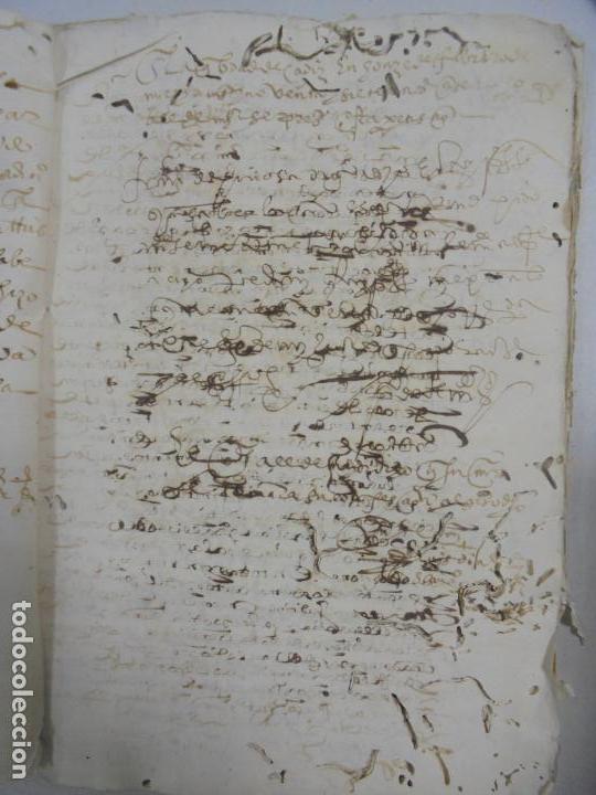 Manuscritos antiguos: QUERELLA POR ESTUPRO DE BEATUS DE JIBEZA CONTRA FRANCISCO DESPINOSSA. CÁDIZ 1594. VER FOTOS - Foto 22 - 133185418