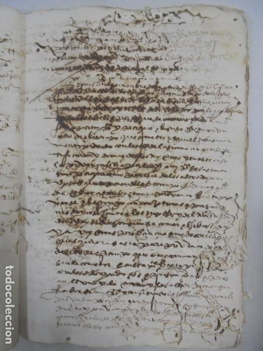 Manuscritos antiguos: QUERELLA POR ESTUPRO DE BEATUS DE JIBEZA CONTRA FRANCISCO DESPINOSSA. CÁDIZ 1594. VER FOTOS - Foto 23 - 133185418