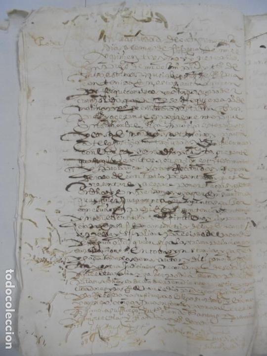 Manuscritos antiguos: QUERELLA POR ESTUPRO DE BEATUS DE JIBEZA CONTRA FRANCISCO DESPINOSSA. CÁDIZ 1594. VER FOTOS - Foto 24 - 133185418