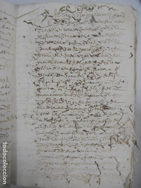 Manuscritos antiguos: QUERELLA POR ESTUPRO DE BEATUS DE JIBEZA CONTRA FRANCISCO DESPINOSSA. CÁDIZ 1594. VER FOTOS - Foto 25 - 133185418