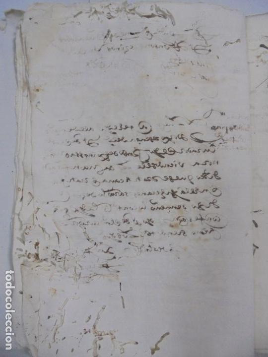 Manuscritos antiguos: QUERELLA POR ESTUPRO DE BEATUS DE JIBEZA CONTRA FRANCISCO DESPINOSSA. CÁDIZ 1594. VER FOTOS - Foto 27 - 133185418