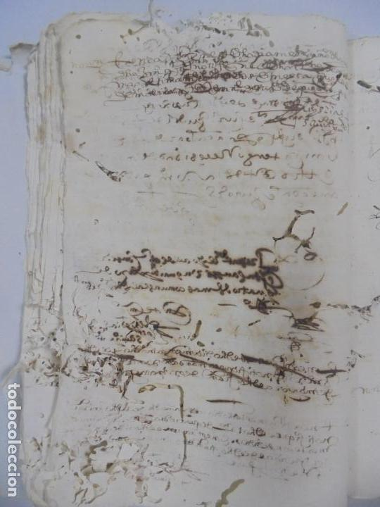 Manuscritos antiguos: QUERELLA POR ESTUPRO DE BEATUS DE JIBEZA CONTRA FRANCISCO DESPINOSSA. CÁDIZ 1594. VER FOTOS - Foto 30 - 133185418