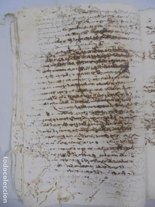 Manuscritos antiguos: QUERELLA POR ESTUPRO DE BEATUS DE JIBEZA CONTRA FRANCISCO DESPINOSSA. CÁDIZ 1594. VER FOTOS - Foto 31 - 133185418