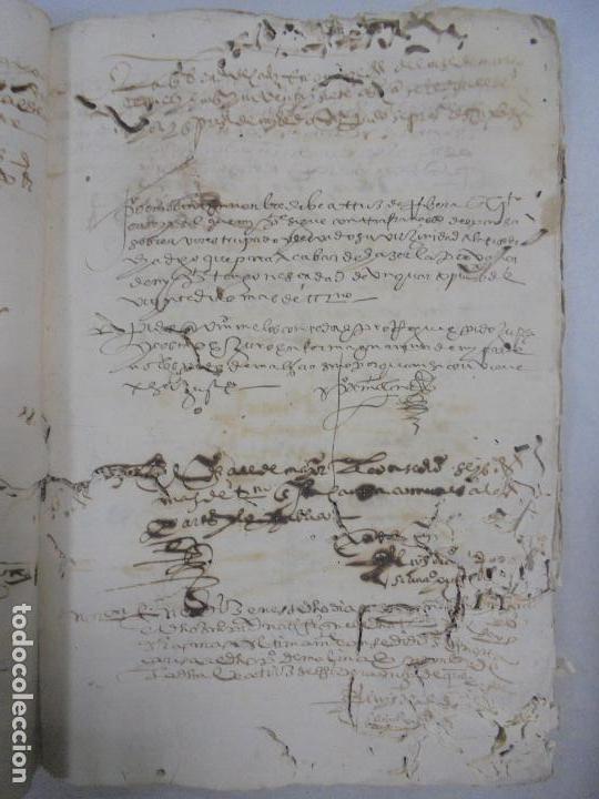 Manuscritos antiguos: QUERELLA POR ESTUPRO DE BEATUS DE JIBEZA CONTRA FRANCISCO DESPINOSSA. CÁDIZ 1594. VER FOTOS - Foto 32 - 133185418
