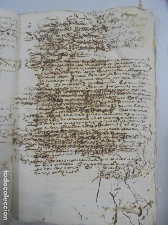 Manuscritos antiguos: QUERELLA POR ESTUPRO DE BEATUS DE JIBEZA CONTRA FRANCISCO DESPINOSSA. CÁDIZ 1594. VER FOTOS - Foto 33 - 133185418