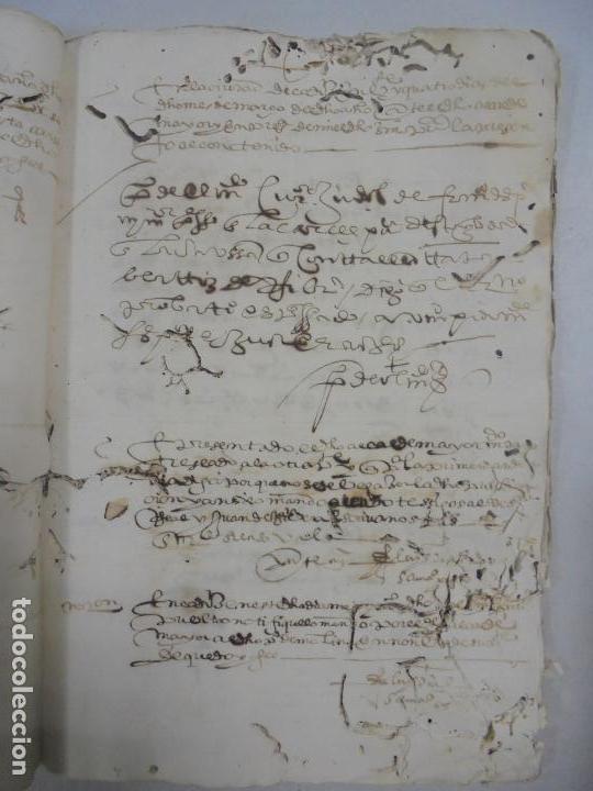 Manuscritos antiguos: QUERELLA POR ESTUPRO DE BEATUS DE JIBEZA CONTRA FRANCISCO DESPINOSSA. CÁDIZ 1594. VER FOTOS - Foto 34 - 133185418