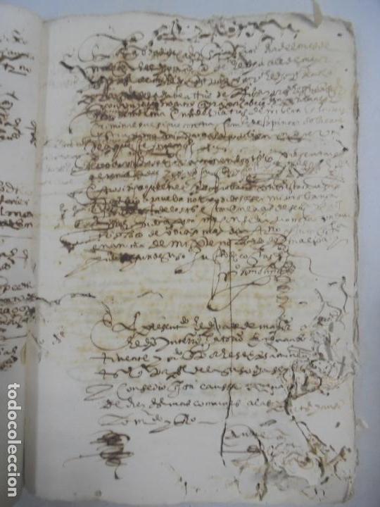 Manuscritos antiguos: QUERELLA POR ESTUPRO DE BEATUS DE JIBEZA CONTRA FRANCISCO DESPINOSSA. CÁDIZ 1594. VER FOTOS - Foto 36 - 133185418