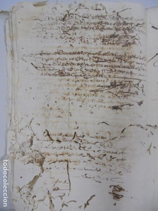 Manuscritos antiguos: QUERELLA POR ESTUPRO DE BEATUS DE JIBEZA CONTRA FRANCISCO DESPINOSSA. CÁDIZ 1594. VER FOTOS - Foto 37 - 133185418