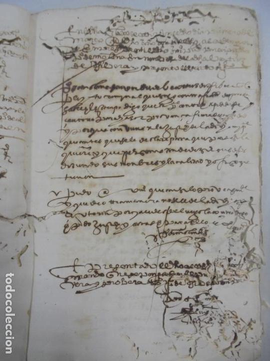 Manuscritos antiguos: QUERELLA POR ESTUPRO DE BEATUS DE JIBEZA CONTRA FRANCISCO DESPINOSSA. CÁDIZ 1594. VER FOTOS - Foto 38 - 133185418